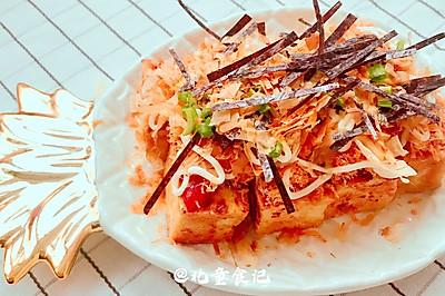 瘦身小吃:煎豆腐仿章鱼小丸子