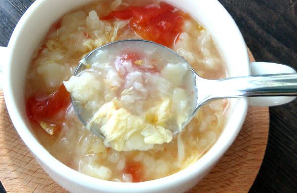 香滑番茄鸡蛋疙瘩汤