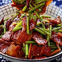 火腿片炒蒜苔的做法图解7