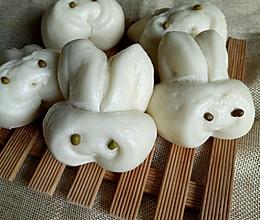 小兔子广式馒头#快乐宝宝餐#的做法