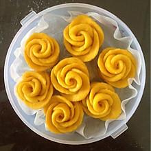 黄玫瑰奶香红薯馒头