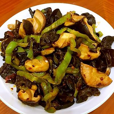 香菇炒木耳  素食家常菜