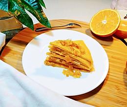 橙香煎饼的做法