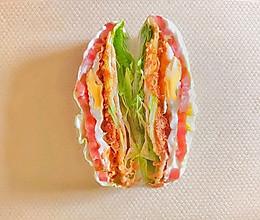 #夏日消暑,非它莫属#低脂蔬菜三明治的做法
