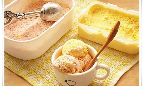 果味冰淇淋:草莓柠檬味, 芒果味的做法