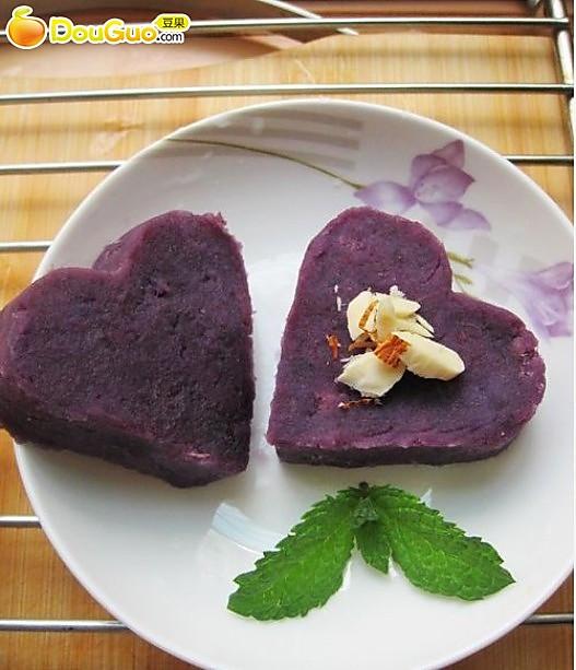蜂蜜杏仁紫薯的做法