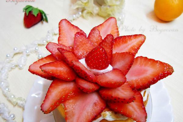 草莓香橙蒸蛋糕(无泡打粉无奶油无油健康低脂蒸蛋糕)的做法