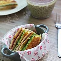 香煎牛油果三文治的做法图解9