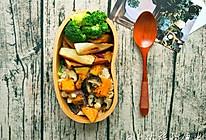 南瓜鸡肉焖饭×油焖茭白便当,初恋的味道!的做法