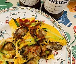牡蛎肉煎蛋的做法