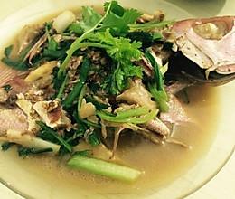 半煎煮红目鲢鱼的做法