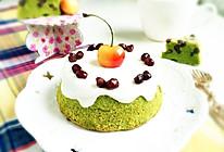 夏日小清新——抹茶蜜豆蛋糕#查摩尔模具试用#的做法
