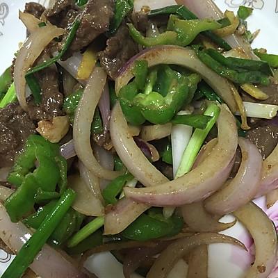 洋葱青椒牛肉片