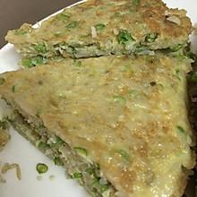 鸡蛋豆角米饭饼