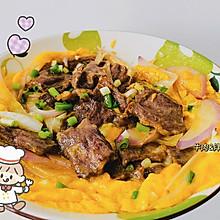 #全电厨王料理挑战赛热力开战!#牛肉滑蛋饭