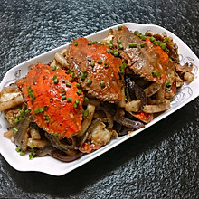 螃蟹炒年糕-宴客必备