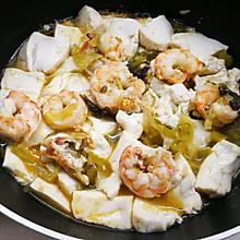 适合夏季的清爽开胃--酸菜豆腐卢虾汤