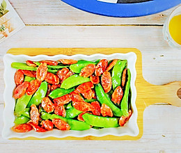 #福气年夜菜#过年必吃~老广味道荷兰豆炒腊肠的做法