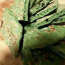 红薯叶燕麦饼