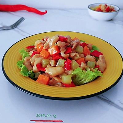 莴龙蚝甜油焖鸡