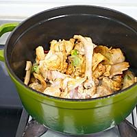小鸡蘑菇炖粉条的做法图解3