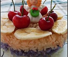 糯米三色蛋糕的做法