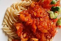番茄虾仁意面的做法