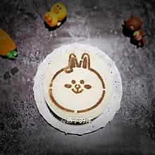#好吃不上火#【蒸】黑米兔兔双色蒸蛋糕