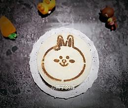 #好吃不上火#【蒸】黑米兔兔双色蒸蛋糕的做法
