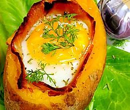#安佳儿童创意料理#红薯烤蛋的做法