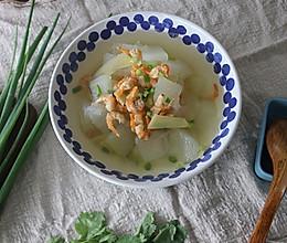 清火祛湿又消肿减脂的冬瓜金钩虾米汤的做法