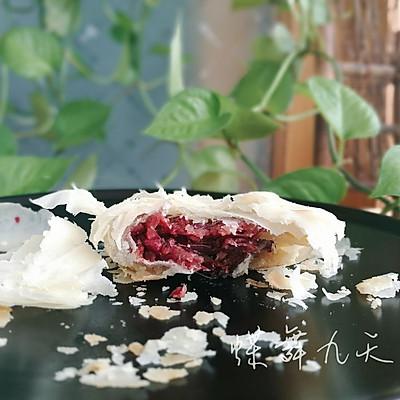 纯素玫瑰鲜花饼