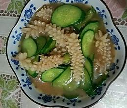 黄瓜鱿鱼花的做法