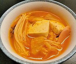 韩式—辣白菜豆腐汤的做法