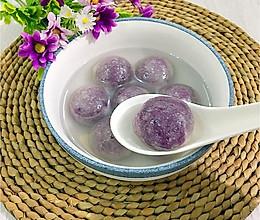 水晶紫薯汤圆(木薯粉版)的做法