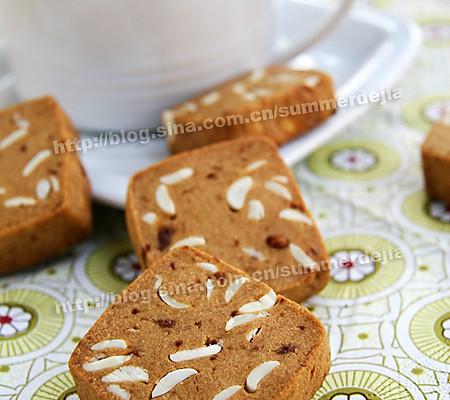 红糖杏仁饼干的做法