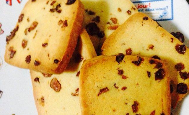 葡萄干切片饼干