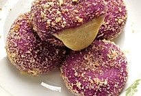 紫薯爆浆小圆饼的做法