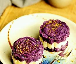 紫薯山药糕的做法