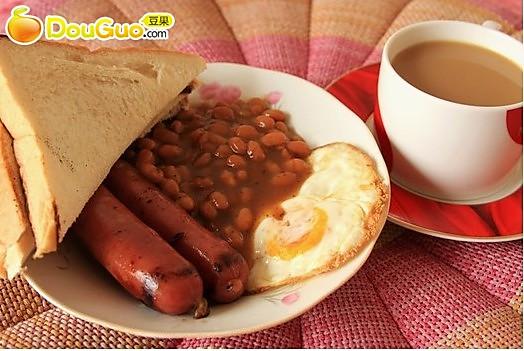简易版英式早餐的做法