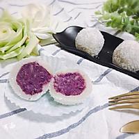 Q弹软糯椰蓉紫薯糯米糍 宝宝喜欢的简单快手小吃下午茶的做法图解15