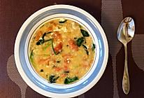 东北名小吃西红柿疙瘩汤,你能吃几碗?的做法