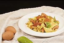 青椒火腿炒鸡蛋的做法
