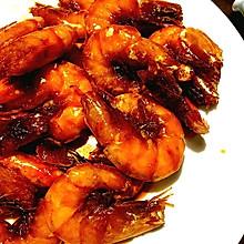 油焖虾(甜虾)——巧取虾线