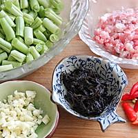 下饭菜之·榄菜肉末四季豆·的做法图解1