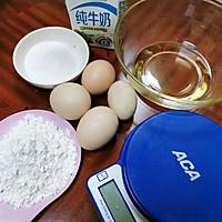 简单版裸蛋糕卷(小四卷)美味早餐/婴儿零食的做法图解1