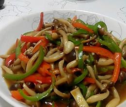 双椒蟹味菇的做法