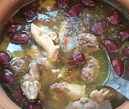 红参须炖老母鸡汤的做法