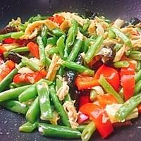 #精品菜谱挑战赛#四季豆烧腐竹+春天的味道的做法图解17