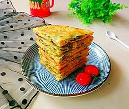 #钟于经典传统味# 猪肉香菜饼